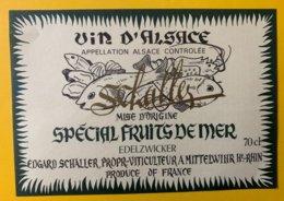 15098  -  Alsace  Schaller Spécial Fruits De Mer - Etiquettes