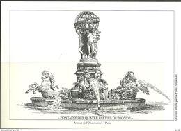 France Fontaine Des Quatre Parties Du Monde, Aven. De L'Observatoire, Blacprint Gravure Offerte Par La Poste. Mint - Zonder Classificatie
