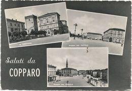 XW 2636 Saluti Da Copparo (Ferrara) - Torrione - Piazza Del Popolo - Panorama Vedute Multipla / Viaggiata 1957 - Altre Città