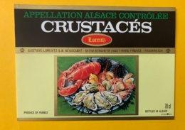 15101  -  Alsace  Crustacés  Lorentz - Etiquettes