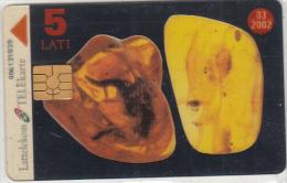 LATVIA - Amber Card, Transparent Telecard, Tirage 34000, Used - Lettonia
