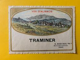 15107  -  Alsace Traminer  E.Boeckel - Etiquetas