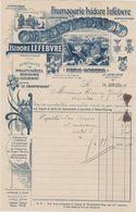 Facture Ancienne Fromagerie Isidore Lefebvre Nesle Hodeng Par Saint Saire 1934 13 X 21 CM - France
