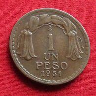 Chile 1 Un Peso 1951 KM# 179  Chili - Chili