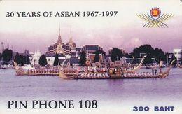 THAILAND - 30 Years Of ASEAN 1967-1997, TOT Prepaid Card 300 Baht, CN : 1309-0002, Used - Thaïlande