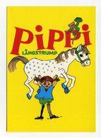 CP Suédoise Neuve. Pippi Langstrump. Fifi Brindacier, Personnage Créé Par Astrid Lindgren. Suède Sverige Sweden - Comics