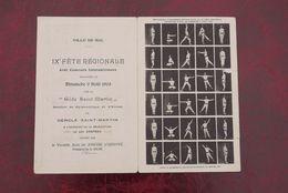Halle  Cpa Pk 1908 Turnfeest Zeldzame Dubbelkaart Gouwfeest 1908 - Halle