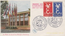 Enveloppe  FDC  1er  Jour   FRANCE    Paire   EUROPA    PARIS   1958 - 1950-1959