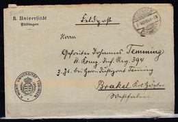 Brief Von Tubingen Nach Brakel K.Wurtt.Universitat Tubingen 01/NOV/64 - Baden