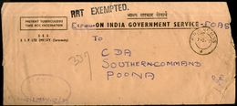 India 1972 OIGS Service Stamped Express Delivery Cover With RRT Exempted Refugee Relief Tax Stamp RRT See # 18825 - Briefe