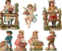 """Découpis """" Thème Enfant """" Avant 1900 A Voir! - Kinderen"""