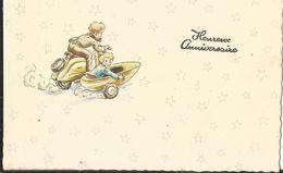 JOYEUX NOEL WEIHNACHTEN CHRISTMAS  MIGNONNETTE ENFANT KINDER VESPA WELA SUISSE 1959 - Santa Claus