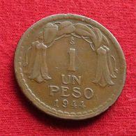 Chile 1 Un Peso 1944 KM# 179  Chili - Chili