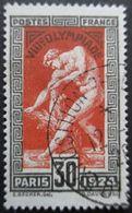 France N°185 JEUX OLYMPIQUES De PARIS 1924 Oblitéré - Estate 1924: Paris