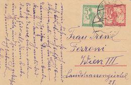 Slovenia 1919 CHainbreakers 10 H Red Postal Stationery, Used, CELJE Postmark - Slovenia