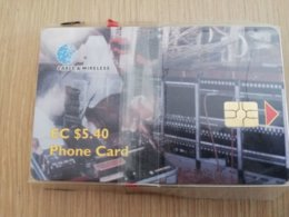 ST KITTS CHIPCARD  $5,40  Old Telecom Devices  MINT  NO STK-C1   **2308** - Saint Kitts & Nevis
