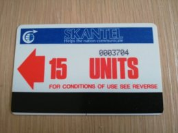 ST KITTS AUTELCA 15 UNITS RED     NO STK-AU1      Fine Used Card  **2320** - Saint Kitts & Nevis