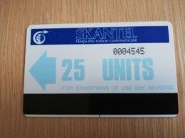 ST KITTS AUTELCA 25 UNITS BLEU      NO STK-AU2      Fine Used Card  **2321** - Saint Kitts & Nevis