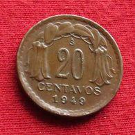 Chile 20 Centavos 1949 KM# 177 Chili - Chili