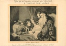 CACAO ET CHOCOLAT VAN HOUTEN ISAAC BENIT JABOB   TABLEAU FORMAT CPA - Van Houten