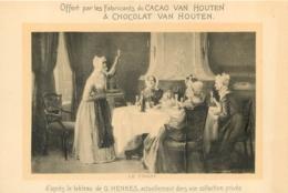 CACAO ET CHOCOLAT VAN HOUTEN LE TOAST  TABLEAU FORMAT CPA - Van Houten