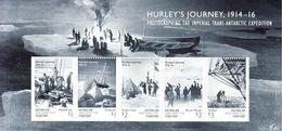 2016 Australian Antarctic Hurley's Journey Explorers Ships Miniature Sheet Of 5 MNH @ BELOW FACE VALUE - Unused Stamps