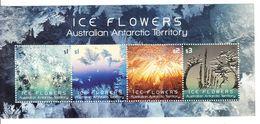 2016 Australian Antarctic Ice Flowers  Miniature Sheet Of 4 MNH @ BELOW FACE VALUE - Unused Stamps