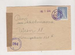 CZECHOSLOVAKIA KOBYLA Nad Vidnavkou 1946 Nice  Censored Cover To Austria - Covers & Documents