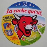 """Etiquette Fromage Fondu - Vache Qui Rit - 32 Portions Bel Pub """"Ton Euro Convertisseur""""   A Voir ! - Käse"""