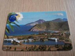 ST KITTS & NEVIS   GPT CARD $10,-   1CSKB     NO STK-1B  DEEP NOTCH      Fine Used Card  **2322** - Saint Kitts & Nevis