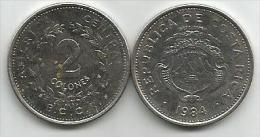 Costa Rica  2  Colones 1984. - Costa Rica