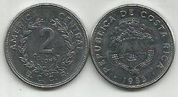 Costa Rica  2  Colones 1983. - Costa Rica