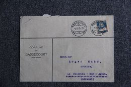 Enveloppe Publicitaire - Commune De BASSECOURT. - Switzerland