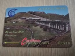 ST KITTS & NEVIS   GPT CARD $10,-   3CSKA     NO STK-3A    BRIMSTONE HILL    Fine Used Card  **2327** - Saint Kitts & Nevis