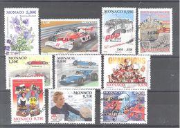 Lot N°1 De 10 Timbres Oblitérés De Monaco (TBE) - Monaco