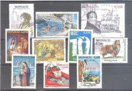 Lot N°2 De 10 Timbres Oblitérés De Monaco (TBE) - Monaco