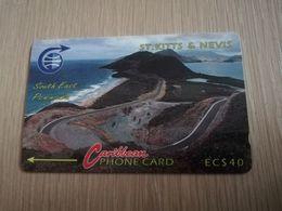 ST KITTS & NEVIS   GPT CARD $40,-   3CSKF     NO STK-3F   SOUTH EAST PENINSULA 2    Fine Used Card  **2332** - Saint Kitts & Nevis