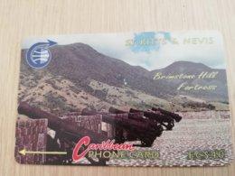 ST KITTS & NEVIS   GPT CARD $40,-   3CSKE     NO STK-3E   BRIMSTONE HILL FORTRESS 3    Fine Used Card  **2333** - Saint Kitts & Nevis