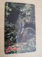 ST KITTS & NEVIS   GPT CARD $20,-   5CSKA     NO STK-5A   WATERFALL   Fine Used Card  **2336** - Saint Kitts & Nevis