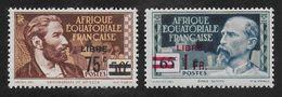 AFRIQUE EQUATORIALE FRANCAISE - AEF - A.E.F. - 1940 - YT 139-140** - Nuevos