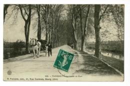 Thoissey - La Levée Du Pont (attelage Cheval De Trait) Circulé - Other Municipalities