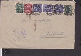 Brief Deutsches Reich Dienstmarken Stempel Ettlingen  1922, - Covers & Documents