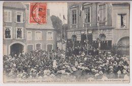 DESVRES (62) : REMISE DE LA LEGION D'HONNEUR A M. FELIX VINCENT MAIRE ET CONSEILLER GENERAL - FETES DU 26 JUILLET 1908 - - Desvres