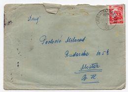 1958. YUGOSLAVIA,SLOVENIA,TPO 39 LJUBLJANA-MARIBOR,COVER SENT TO MOSTAR - 1945-1992 Socialist Federal Republic Of Yugoslavia