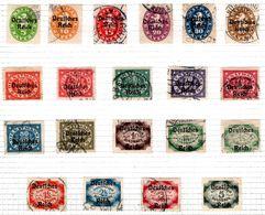 ALLEMAGNE - (BAVIERE) - 1920 - Service - N° 15A à 15T - (Lot De 18 Valeurs Différentes) - Beieren