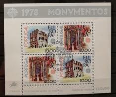 Portugal 1978 / Yvert Bloc N°23 / Used / Europa - Blocs-feuillets