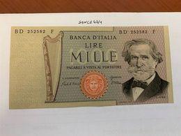 Italy Verdi 1000 Lire Uncirc. Banknote 1980  #3 - 1000 Lire