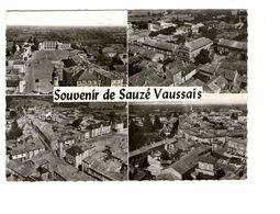 79 Sauze Vaussais Souvenir Carte 4 Vues CPSM GF Salle Des Fetes Eglise Tour Horloge Vue Generale Cachet Sauze 1962 - Sauze Vaussais