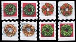 Etats-Unis / United States (Scott No.5424-27 - Christmas Wreath) (o) Set All Positions - Verenigde Staten