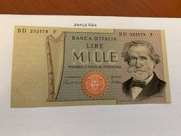 Italy Verdi 1000 Lire Uncirc. Banknote 1980  #4 - 1000 Lire